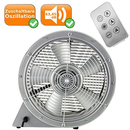 moderner Ventilator mit Fernbedienung, Windmaschine mit 3 frei einstellbare Geschwindigkeitsstufen für eine optimale Luftverteilung