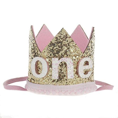 kingko® Neue und schöne Design Mädchen Sequins Kopf Zubehör Headband Baby Elastische Blume Crown Headwear H