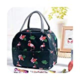 OxbOw Flamingo Portable Zipper Waterproof Lunch Bags Women Student Lunch Box Thermo Bags