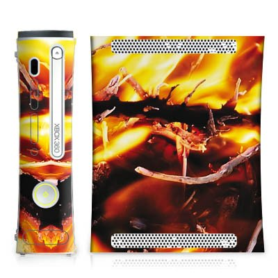 DeinDesign Microsoft Xbox 360 Folie Skin Sticker aus Vinyl-Folie Aufkleber Feuer Fire Armageddon (Skin Für Xbox 360 E)