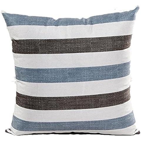Longra A strisce divano-letto Cuscino casa Copricuscino Decor Blu