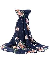 Cinnamou Mode Femmes Imprimé Doux En Mousseline de Soie Châle Wraps Écharpe  Écharpe Sexy Fille En be4452dc627