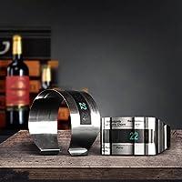 Rosa Lagarto kcasa LCD termómetro pulsera de vino creative termómetro para vino de acero inoxidable