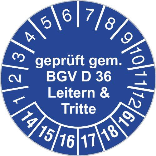 Prüfplakette 30 mm Durchmesser selbstklebend
