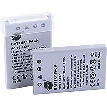 DSTE 2-Pacco Ricambio Batteria per Nikon EN-EL5 Coolpix P510 P520 P530 P5000 P5100 P6000 S10 3700 4200 5200 5900 7900 P3 P4 P80 P90 P100 P500