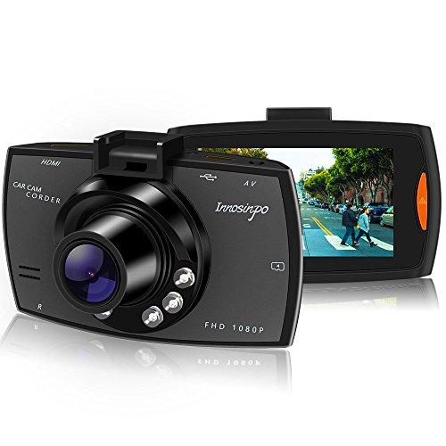 Cámara para Coche Full HD 1080P Dash Cam 140°Gran Ángulo, tablero de instrumentos Cámara grabadora con 6 IR LED de visión nocturna, sensor G de alta sensibilidad, Loop de Grabación, detección de movimiento, monitor de estacionamiento, grabación de bucle