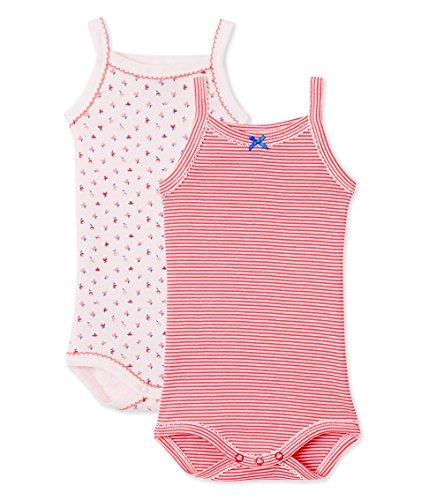 Petit Bateau Baby-Mädchen Body à bretelles_23188, 2er Pack, Mehrfarbig (Special 00), 86 (18m/81cm)