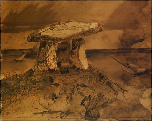 photographic-print-of-dolmen-ou-m-a-parle-la-bouche-d-ombre-pen-a-ink-and-wash-on-paper
