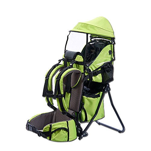 XTLSTORE Kindertrage Rückentrage Rucksack Carrier bis 25kg (Grün)