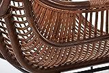 RATTANSTUHL Rattan-Stühle Korb-Stuhl Korb-Sessel - braun - Retro 50er Lounge Loft Esszimmer Garten Küche Bistro Balkon Terrasse mit Armlehne - 6