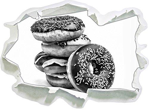 monocrome-sweet-donuts-papier-aspect-3d-la-taille-de-la-vignette-mur-ou-de-porte-92x67cm-stickers-mu
