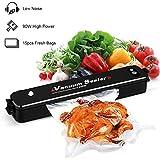 Yunshangauto Folienschweißgerät Vakuumierer Vakuumiergerät für Lebensmittel 90W mit 15pc Vakuumbeutel(für Sous Vide Kochen)