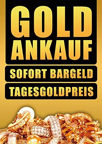 2 x Goldankauf Juwelier Schmuck Poster Plakat A1 Kundenstopper (SK-Folie)