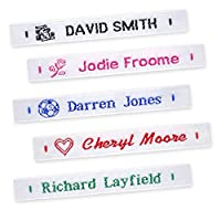 72 Woven Sew-in Name Labels - Name Tags, Tapes for School