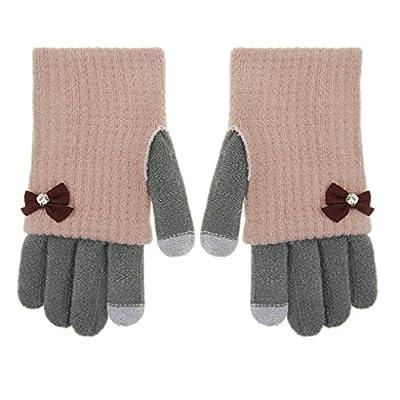 JIAHG Damen Touchscreen Handschuhe Fäustlinge Doppelte funktionale Fingerhandschuhe Strickhandschuhe Armstulpen Pulswärmer Herbst Winter Outdoor-Aktivitäten Bedarf von JIAHG bei Outdoor Shop