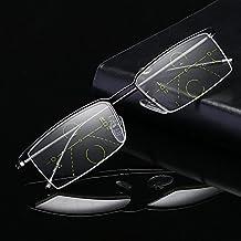 Bluelover Medio Borde Progresiva Presbicia Multifocal Inteligente Lectura Gafas Lentes De Resina - 3,0