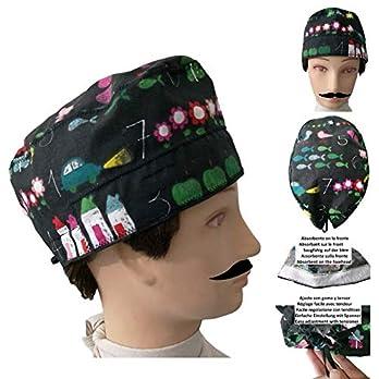 MANN OP-Haube SLATE kurze haare Guy Saugstreifen auf der stirn, verstellbar mit spanner und gummi