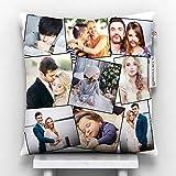 "GiftsOnn 9 Photos Personalized Cushion (Collage Pillow, 12""x12"")"