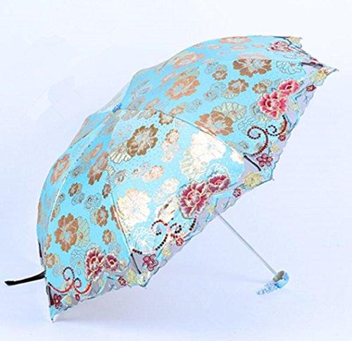 Sucastle Folding, hochwertig, luxuriös, Stickerei, Sonnensegel, Sonnenschutz, Regenschirm Sucastle:...