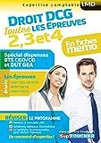 Droit DCG : Toutes les révisions de l'UE 2, 3, 4 - Spécial dispense BTS CG et DUT GEA (French Edition)