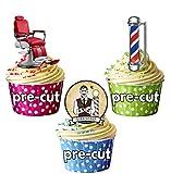 PaRTY Lot de 36 x de coiffure Ciseaux de coupe-ongles à décorations comestibles en gaufrette pour cupcakes