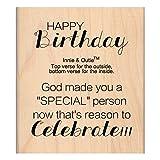 MSE Wood My Sentiments Exactement monté sur 6,3cm X 7,6cm, personne spéciale anniversaire...
