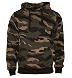 Kapuzenpullover Hoodie Workerhoodie kapuzen Sweatshirt - Herren - Größe XS-5XL - 380g hochwertig und sehr soft - Original von ROCK-IT - camouflage Grün/Braun XX-large