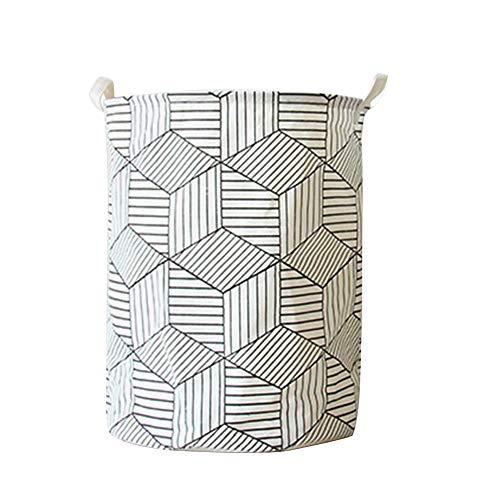 SNXYLOW Kunst Tuch Falten Geometrie Schmutzige Kleidung Spielzeug Aufbewahrungseimer Schmutzige Kleidung Wäschekorb Für Haushalt Ablagekorb -