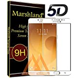 Marshland Tempered Glass 5D Perfect Fit Screen Protector For Samsung Galaxy C9 Pro (White)