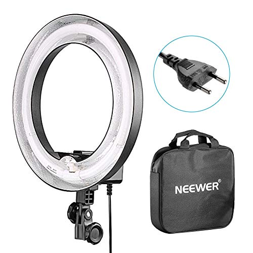 Neewer Flash Macro 36cm Exterior 25cm Interior 400W 5500K, Lámpara Regulable Fluorescente Luz Anillo para Cámara Foto Video