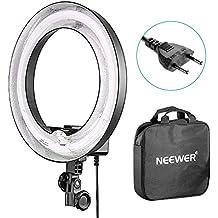Neewer Flash Macro 36cm Exterior 25cm Interior 400W 5500K, Lámpara Regulable Fluorescente Luz Anillo para