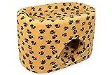 Katzenhöhle, Katzenkorb CatBed Lüni Style Plus - 70x45x47cm - braun mit Tatzen