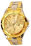 Xforia Boys Watch Stainless Steel Band Golden Dial Watches for Men (VS-FLX-729)