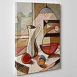 ConKrea - Cuadro sobre lienzo, con bastidor, listo para colgar - Estilo Pablo Picasso - Cubismo, arte moderno