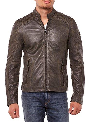 Gipsy Copper Giacca in pelle grigio scuro XXXL