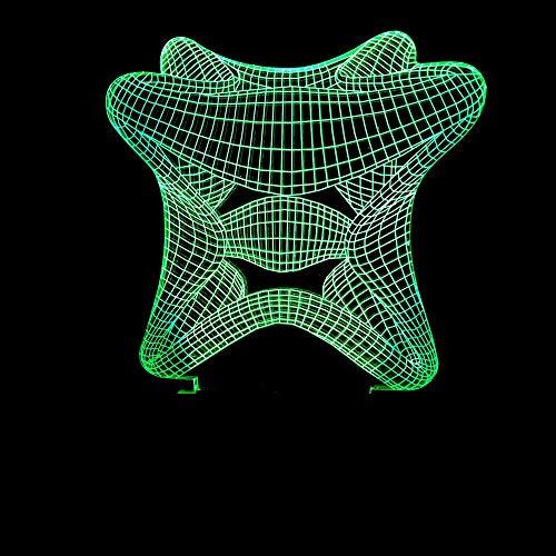 3D Illusion Nachtlampe Led Abstrakter Seestern Licht Für Kinder Kinder Dekoration Geburtstag Geschenk