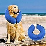 Aolvo Schutz aufblasbar Halsband, Klein/Mittel/Große Weiche Hund Membran Halsband Haustier-Hund Recovery Halsband, Entworfen zu verhindern Haustiere von Berühren Stiche