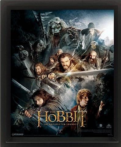 Poster 3D Le Hobbit : un voyage inattendu (28,5cm x 23,5cm) + un poster surprise en cadeau!