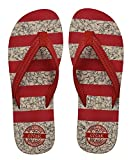 eNaR Women's Red Color Thong-Style Slippers/Flip Flops (Size-6)