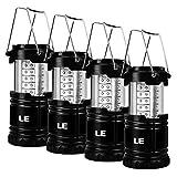 LE Lighting EVER Lampe de Camping LED Portable, Lot de 4, Lanterne LED Etanche à Piles, Lanterne de Camping pour Bricolage, Cave, Tente, Eclairage de Secours, etc