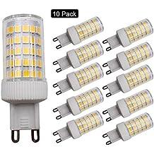 JCKing (Paquete de 10) Lámpara de ahorro de energía 10W Dimmable G9 86 SMD