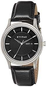 Titan Ottoman Analog Black Dial Men's Watch-1650SL01