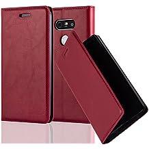 Cadorabo - Etui Housse pour LG G5 avec Fermeture Magnétique Invisible (stand horizontale et fentes pour cartes) - Coque Case Cover Bumper Portefeuille en ROUGE DE POMME
