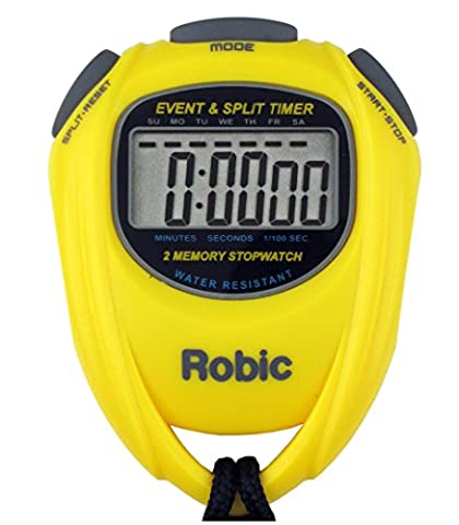 Robic SC-539 Water Resistant Event & Split Time Memory Stopwatch,