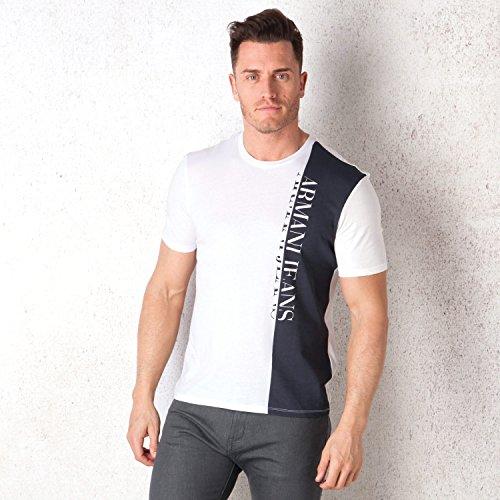 armani-jeans-logo-panel-t-shirt-xxl-white