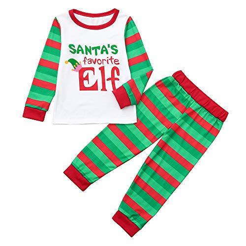 OHQ Familien Pyjama Weihnachten Deer Print Pyjamas Home Kleidung 2 Passende Familie Kostüme Outfit Nachtwäsche Schlafanzüge Passende Sets Damen Herren Kinder Baby Eltern-Kind Homewear Sleepwear (Passende Baby Und Eltern Kostüm)