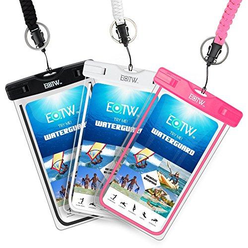 EOTW 3 Stück Wasserdichte Handyhülle, Wasserdichte Handytasche für iPhone Samsung Huawei Smartphones bis 6