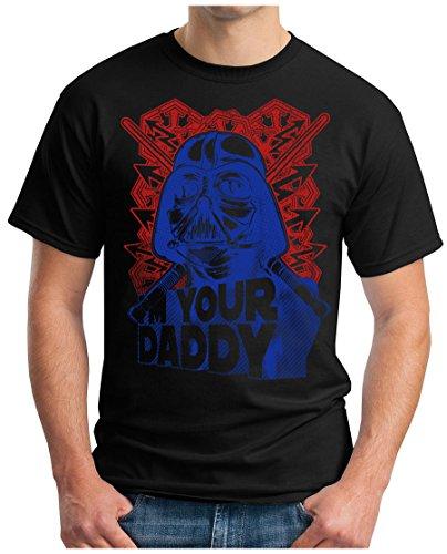 OM3 - IM-YOUR-DADDY - T-Shirt DARTH VADER LUKE STORMTROOPER EMPIRE SciFi PARODIE GEEK Schwarz