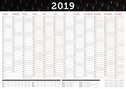 Großer Wandkalender 2019 in DIN A1 (84 x 59,4 cm) gefalzt, fürs Büro.: Wandplaner, Jahreskalender XXL für 12 Monate 2019. Jahresplaner groß ... gesetzlichen Feiertage und Vorschau für 2020
