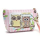 CYBERRY.M Portable Owl éTui CosméTique Pochette Zip Toilette Organisateur Voyage Maquillage Sac D'Embrayage (A)